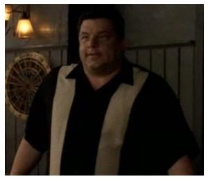 Shirt from The Sopranos in black and beige stripe