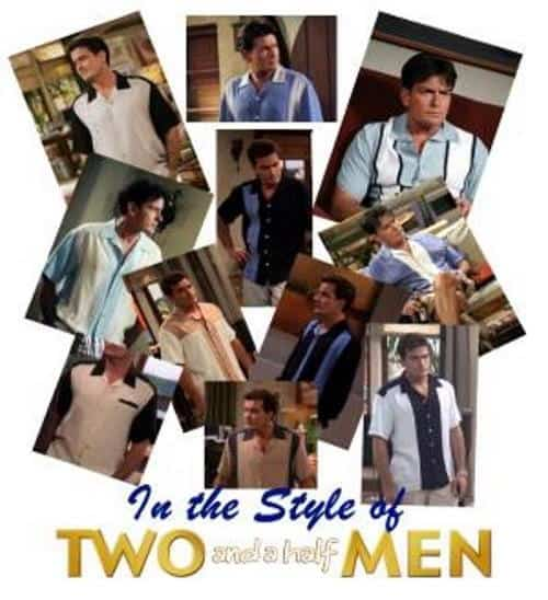 Charlie Sheen shirts from two and a half men