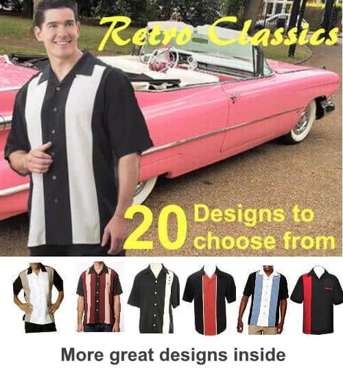 Retro style bowling shirts